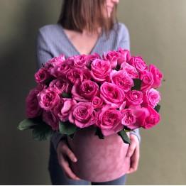 Шляпная коробка с розами Эшли