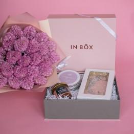 IN BOX + букет (сет1)