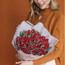 тюльпан пионовидный алый