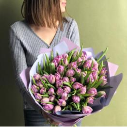 Тюльпаны пионовидные лавандовые