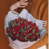 Тюльпаны пионовидные красные