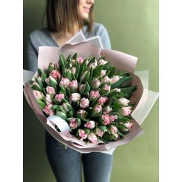Тюльпаны пионовидные розовые