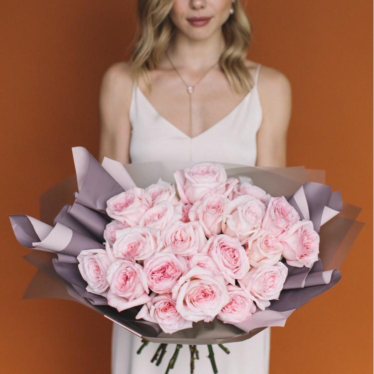 пионовидная роза Охара (розовая)