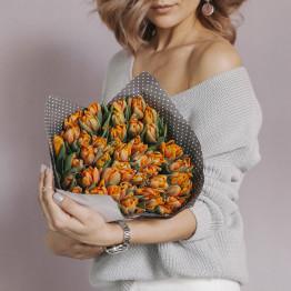 Тюльпаны пионовидные оранж