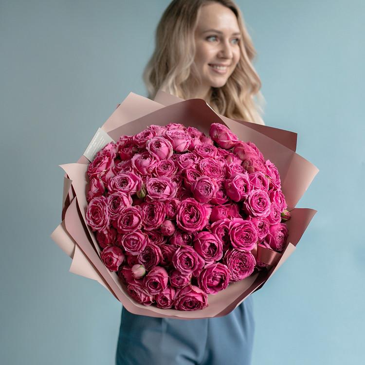 пионовидные кустовые розы Мисти Баблс