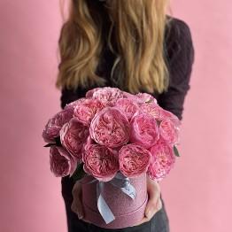 Розы Мария Тереза в шляпной коробочке