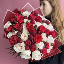 Розы пионовидные микс