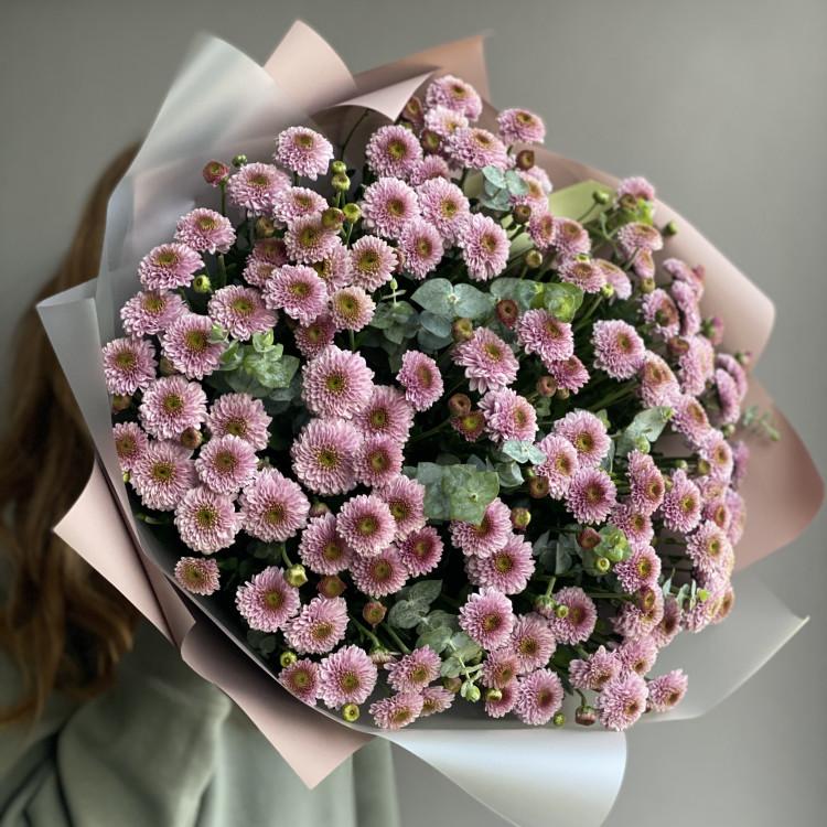 Хризантемы кустовые с эвкалиптом