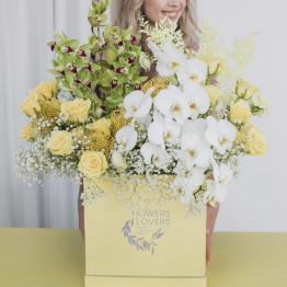 Шляпная коробка Лимонный Сорбет