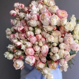 Микс из кустовых пионовидных роз ( АКЦИЯ!)