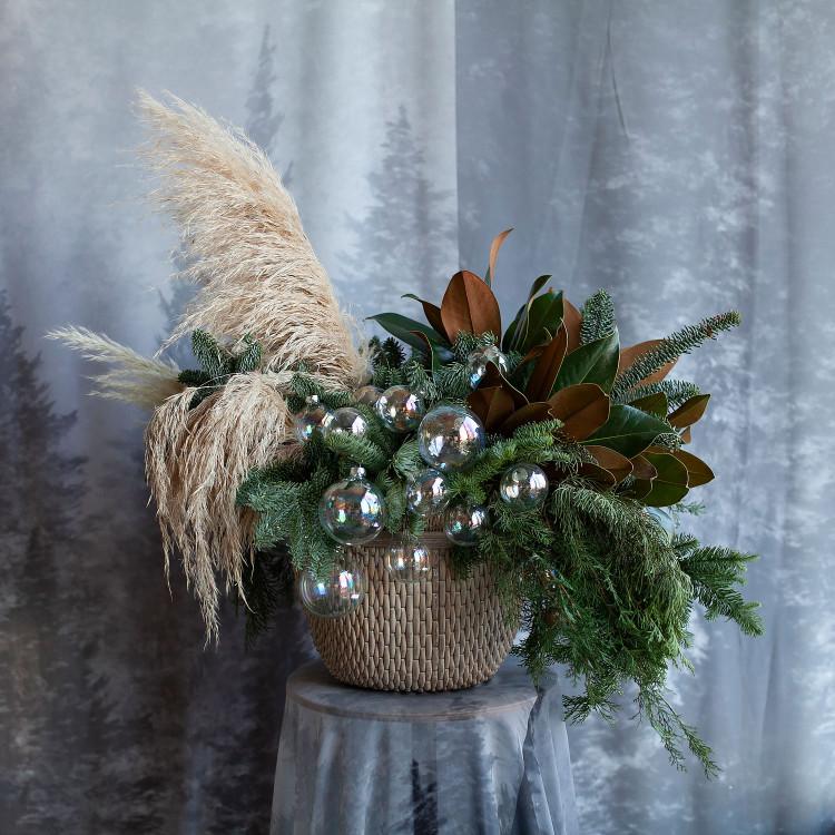 новогодняя зимняя композиция Хюгге